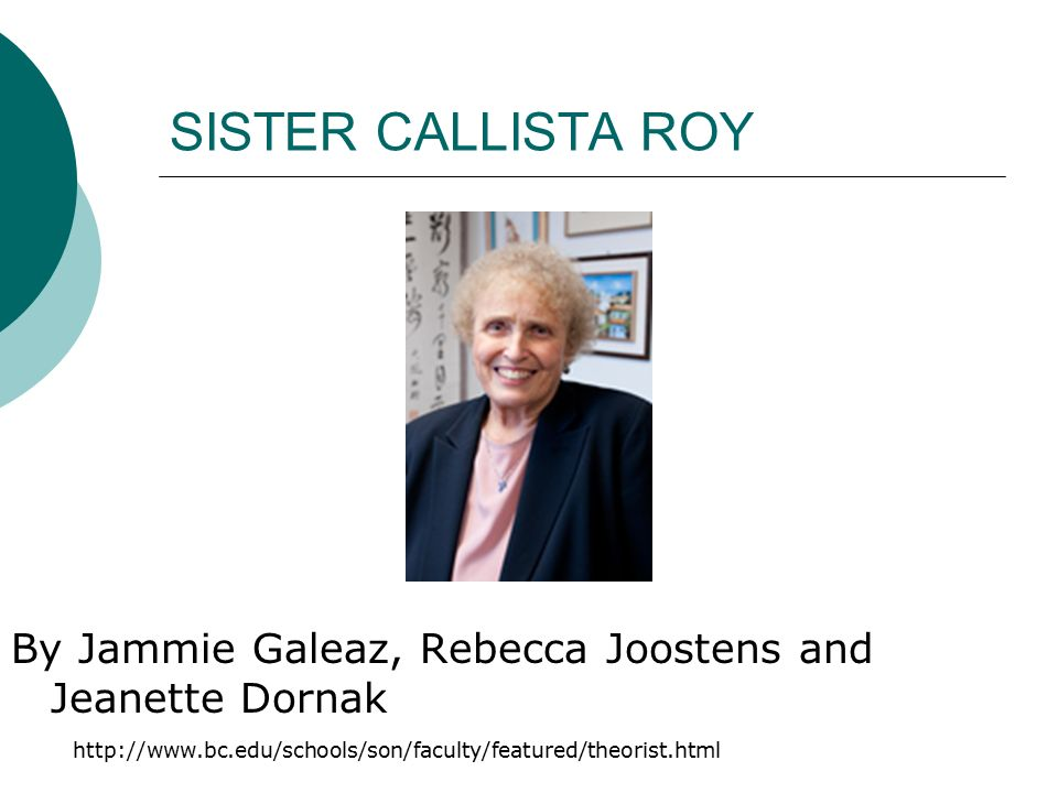 sister callista roy adaptation model