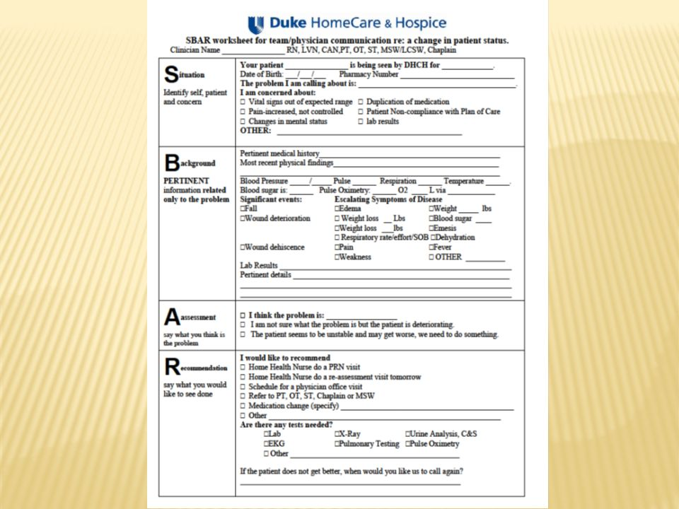 Patient Using Care Chart Report Examples