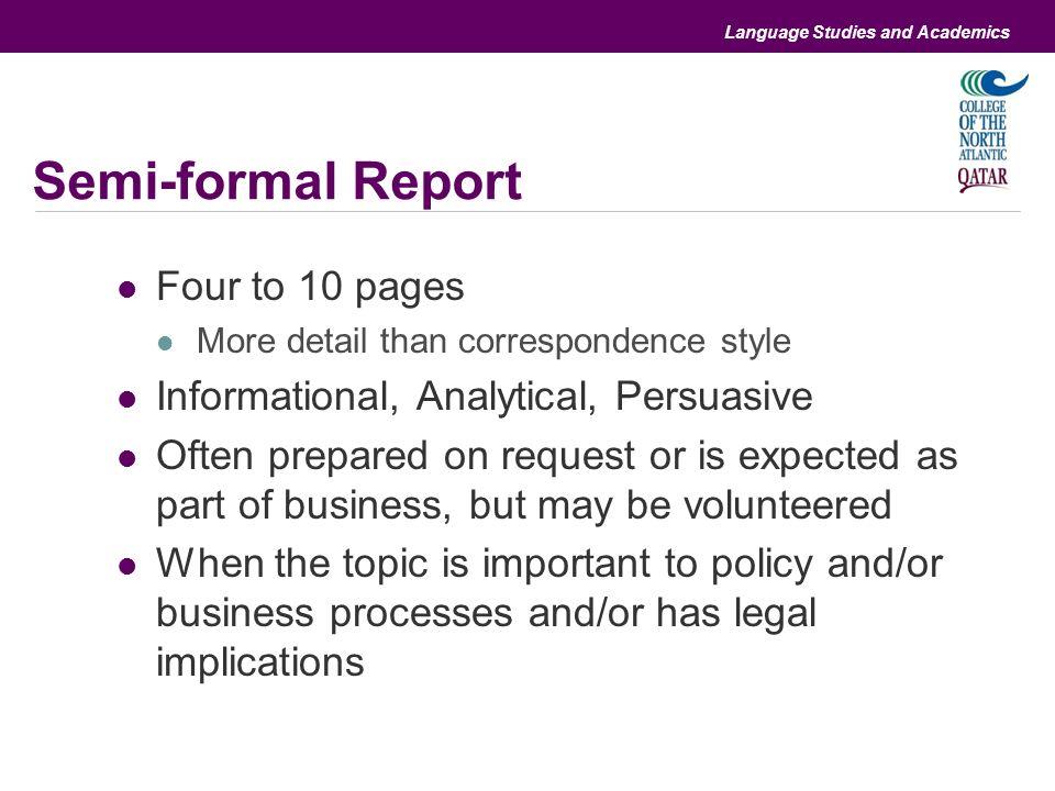 business report topics