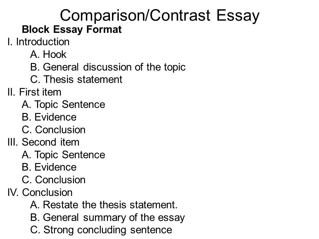 Essay Format Compare Contrast