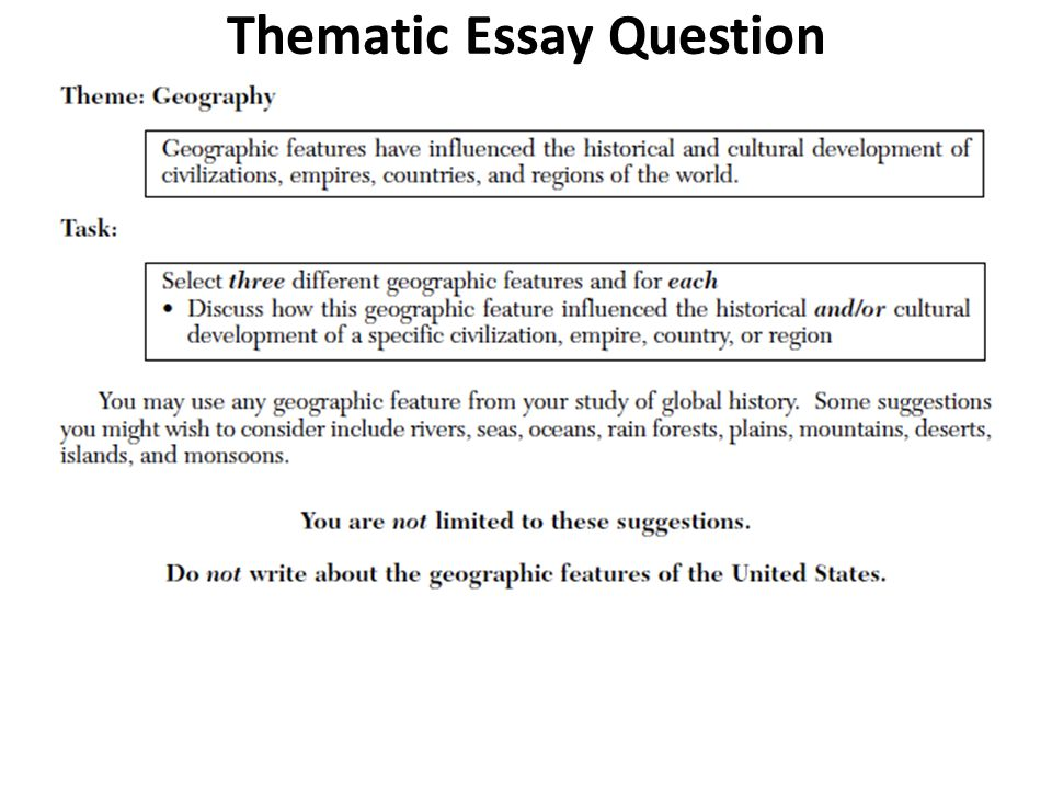 Thematic Essay Geographic Features Mistyhamel