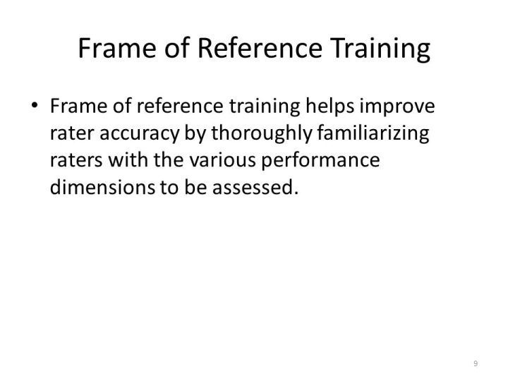 Frame Of Reference Training | Frameswall.co