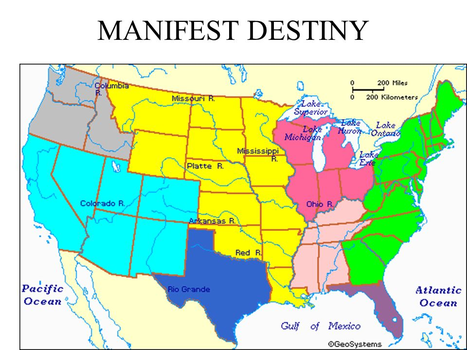 Map Us After Louisiana Purchase