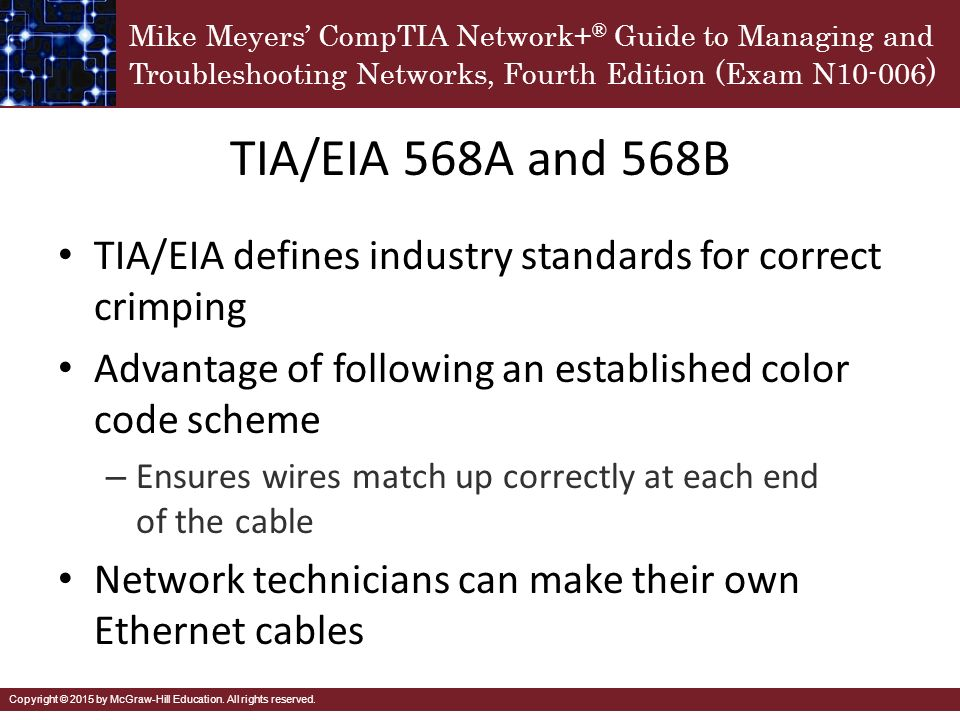 TIA%2FEIA+568A+and+568B+TIA%2FEIA+defines+industry+standards+for+correct+crimping.+Advantage+of+following+an+established+color+code+scheme. standard ethernet wiring diagram dolgular com standard ethernet wiring diagram at nearapp.co