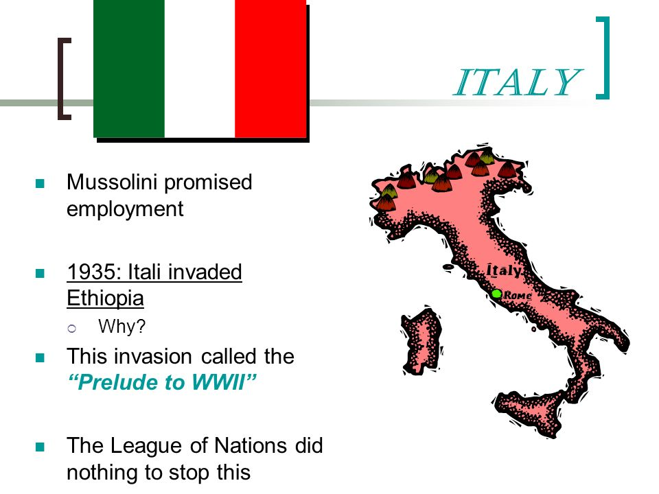 Invade Abyssinia Why Did Italy