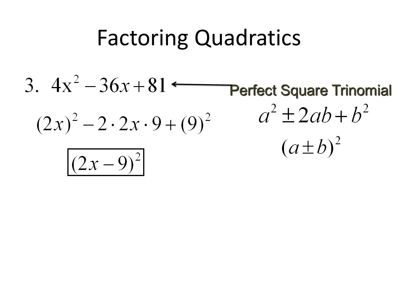 Factoring And Solving Polynomial Equations Day 1