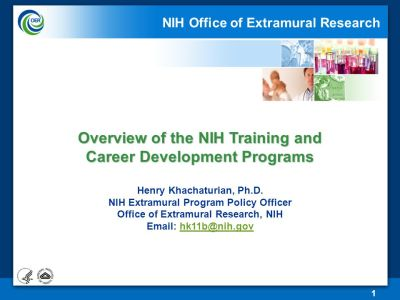 the nih office of research nih office of extramural ...