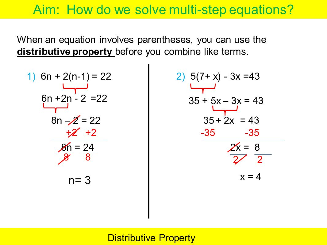 Distributive Property Equations With Variables On Both Sides Worksheet