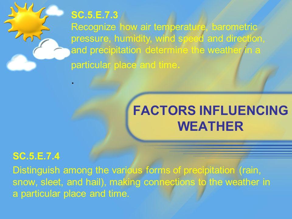 five factors that determine climate