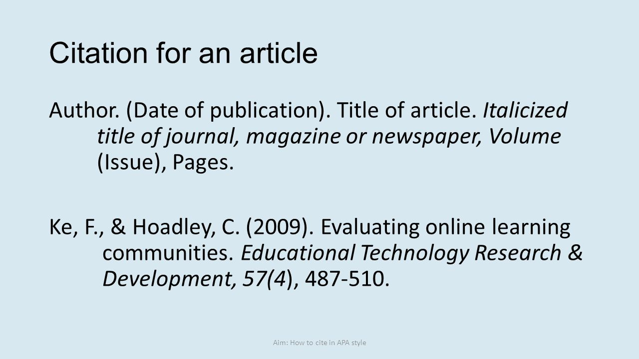 Easybib Apa Format Citation