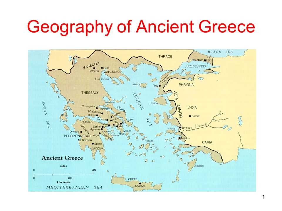 Physical Geography Ancient Greece