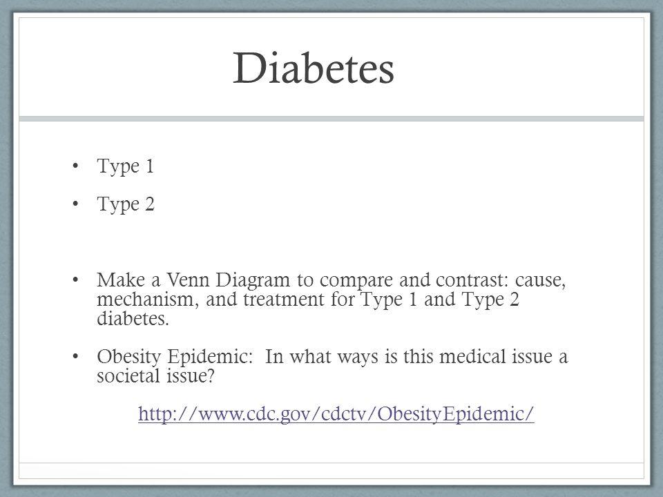 1 Diabetes Type Venn 2 Vs Type Diagram