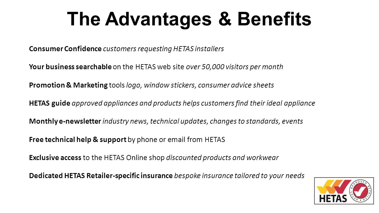 HETAS Approved Retailer Course