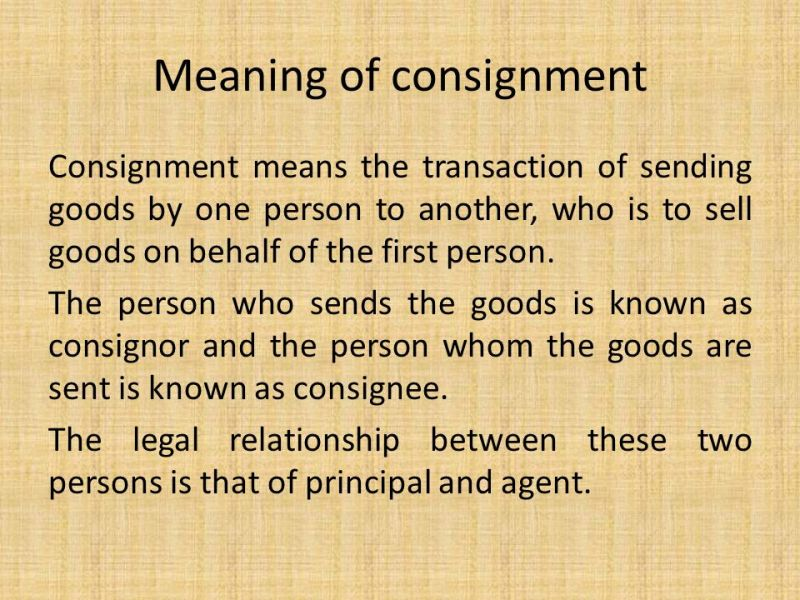 Consignment Letter Meaning | Poemsrom.co