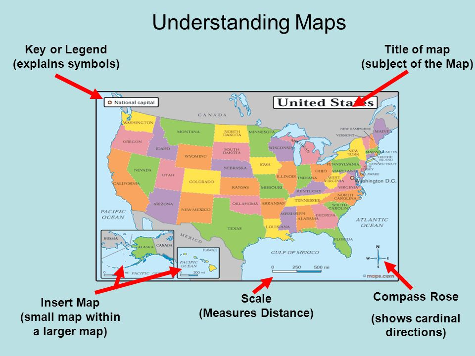 United States Map With Compass Rose.Map Of The United States With Compass Rose On It