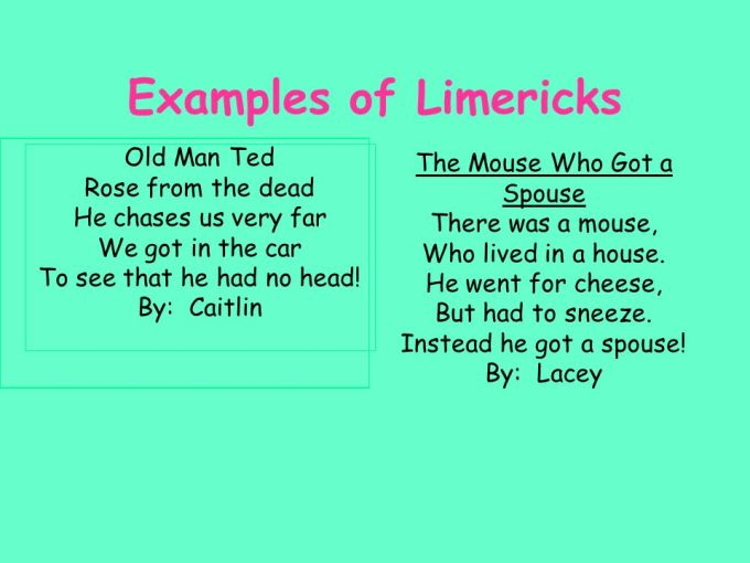 Limerick Poem Definition And Example Textpoems