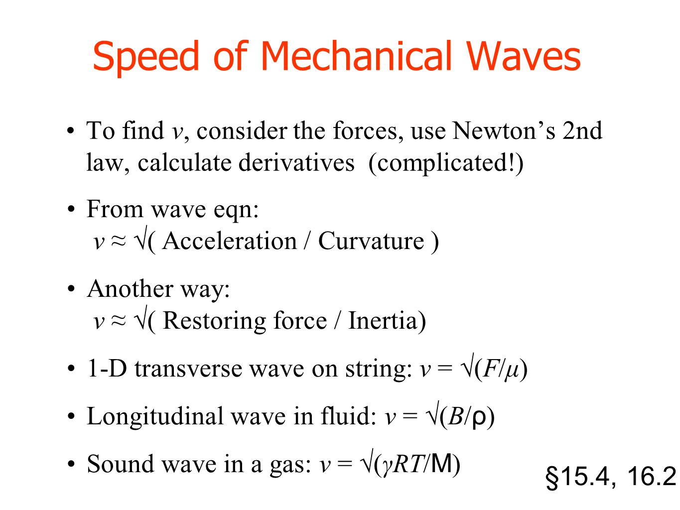 Lecture 5 The Wave Equation Pre Reading 15 3 Ppt Video Online Download