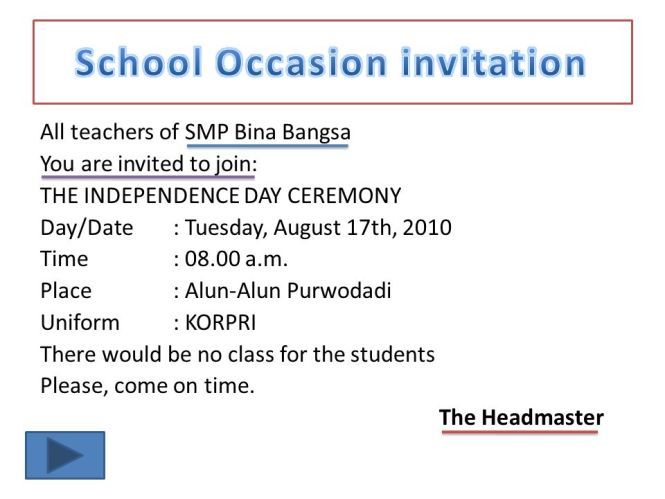 Formal invitation to headmaster cogimbo formal vip invitation letter fresh to headmaster stopboris Choice Image