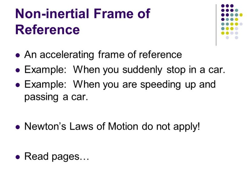 Ppt On Inertial Frame Of Reference | Framess.co