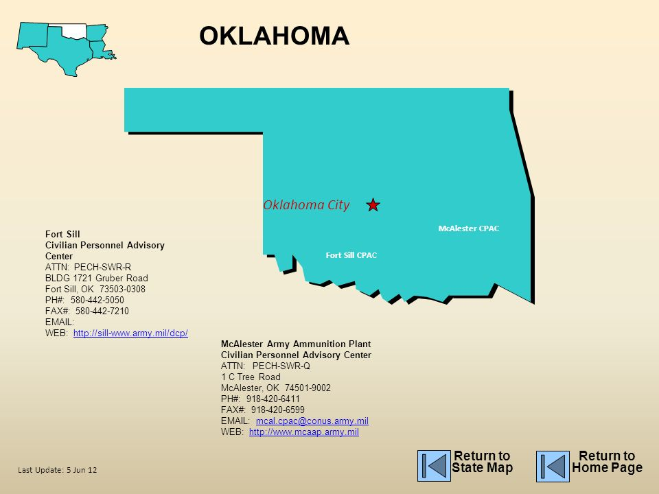 Oklahoma Fort Sill Building Map
