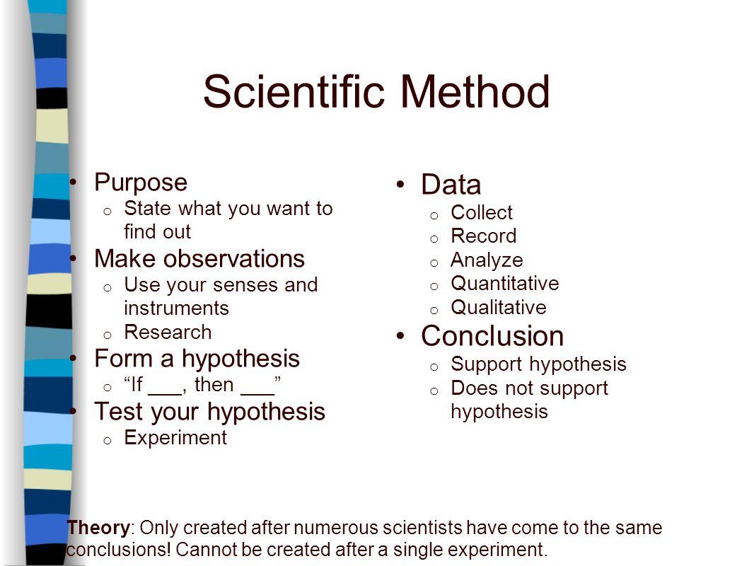 Scientific Method Observations