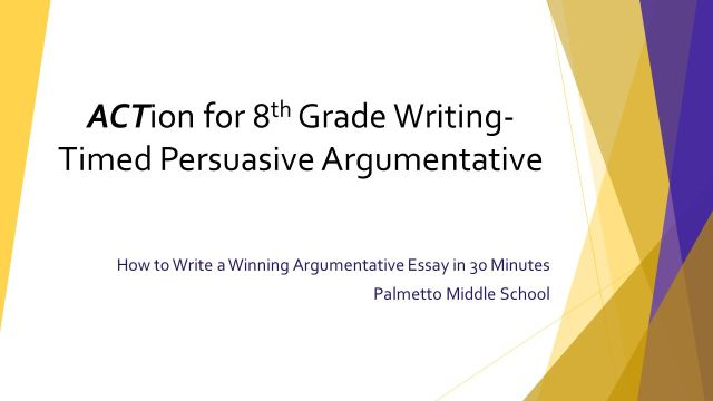 How to Write a Winning Argumentative Essay in 29 Minutes Palmetto