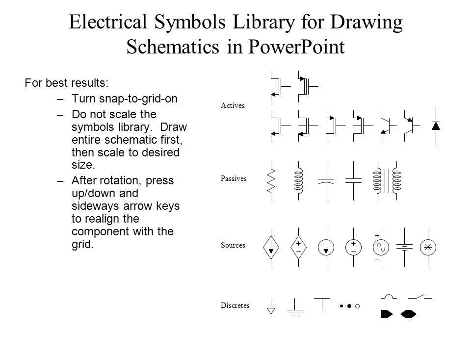 Electronic Symbols For Powerpoint