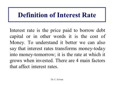 Determination of Interest Rates - ppt video online download