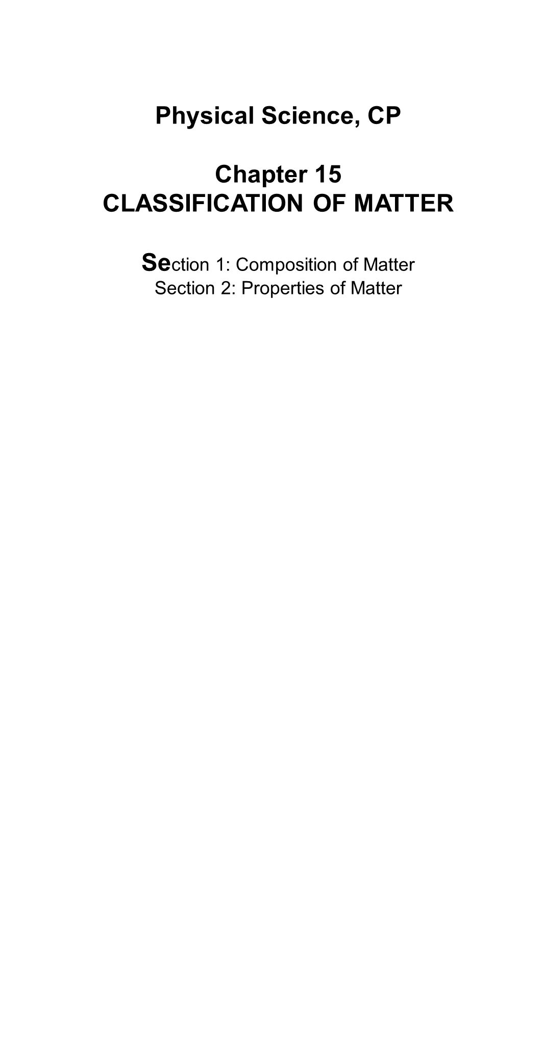 Printables Of Classification Of Matter Worksheet