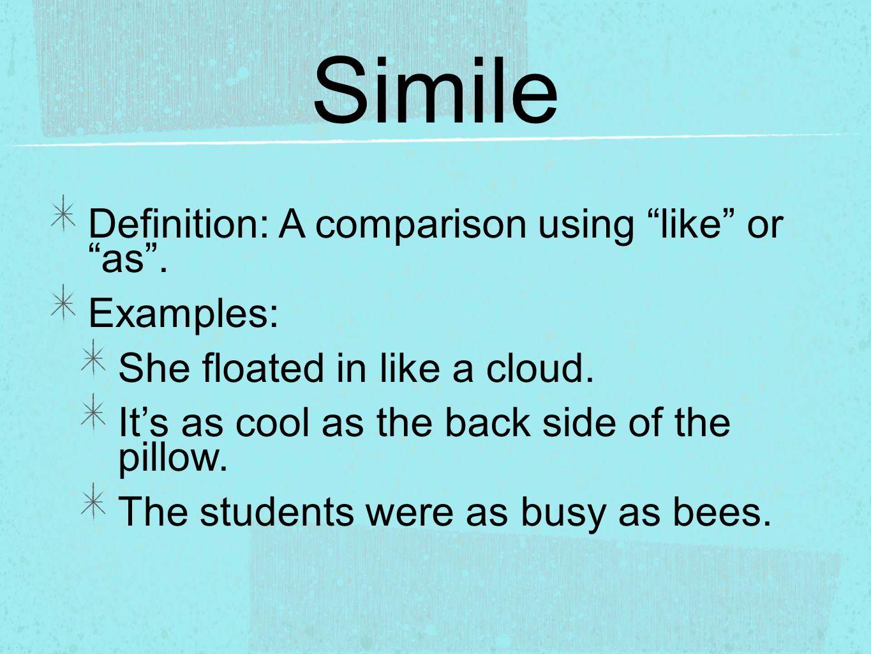 Easy Simile Worksheet