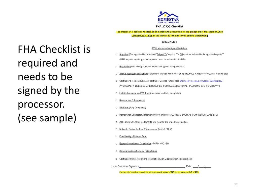 New Fha Streamline Worksheet