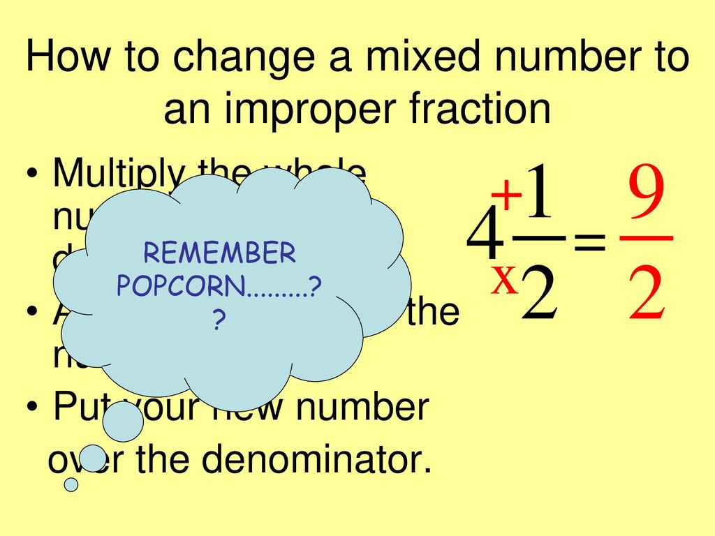 Mixed Fraction Definition