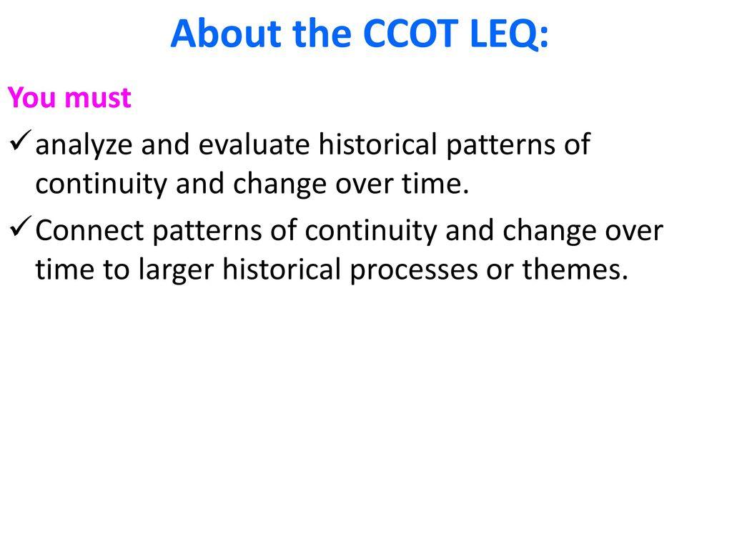 The Leq Long Essay Question