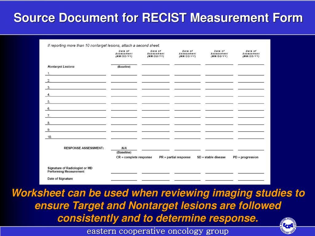 Recist Training Workshop Response Evaluation Criteria In
