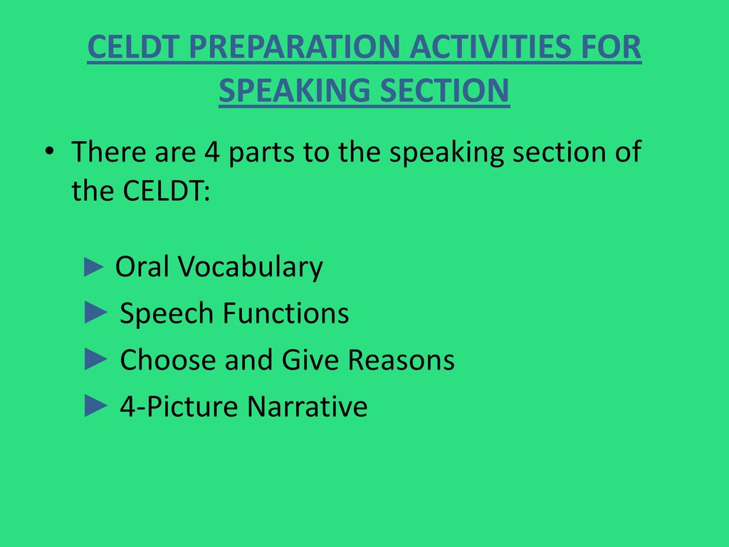 Celdt Test Prep Revised By Mrs Lopez Dvms