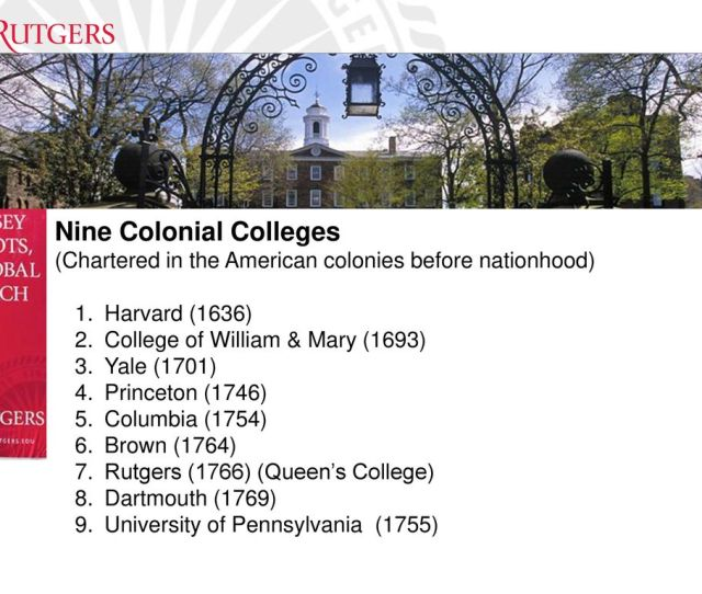 3 Nine Colonial Colleges