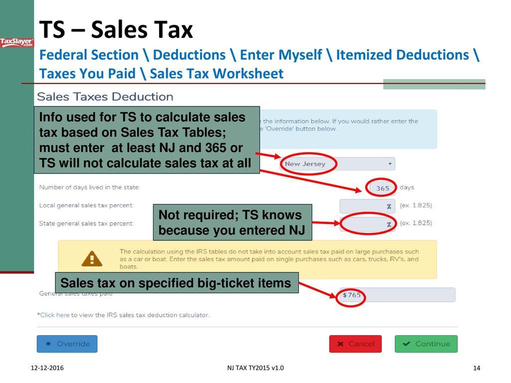Itemized Deductions Nj Property Tax Deduction Credit