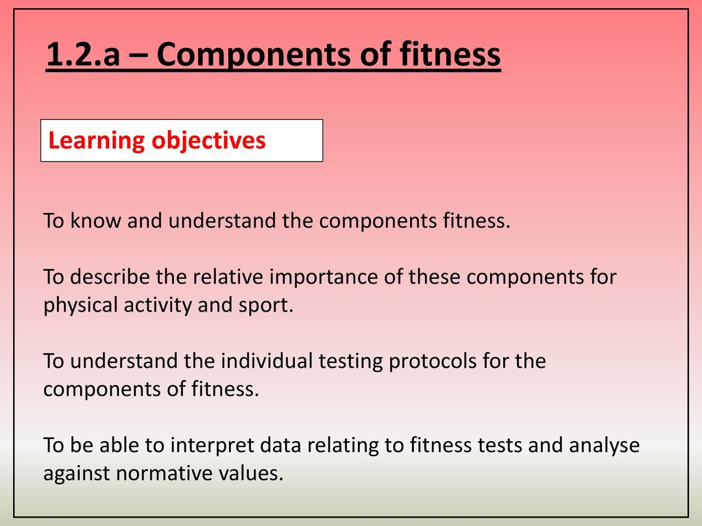 Components Of Physical Fitness Test Questions