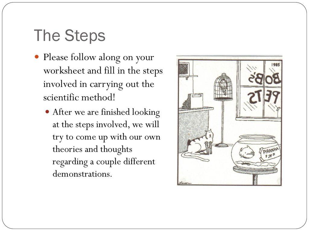 5 Step Scientific Method Worksheet