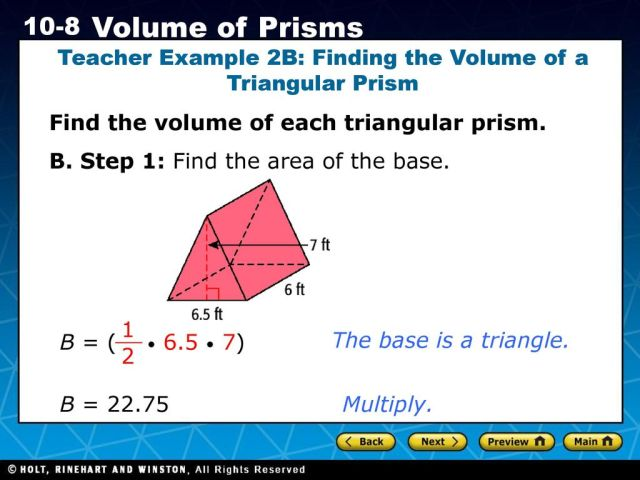 MG28.28 Know and use the formulas for the volume of triangular