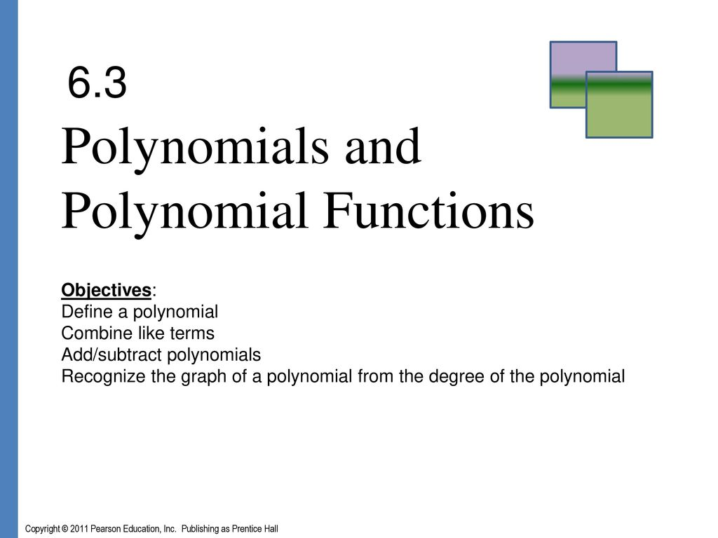 Exponents Polynomials And Polynomial Functions
