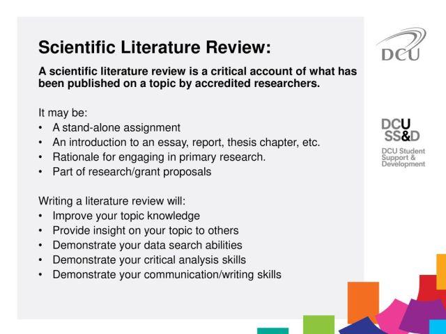 Scientific Literature Review - ppt download