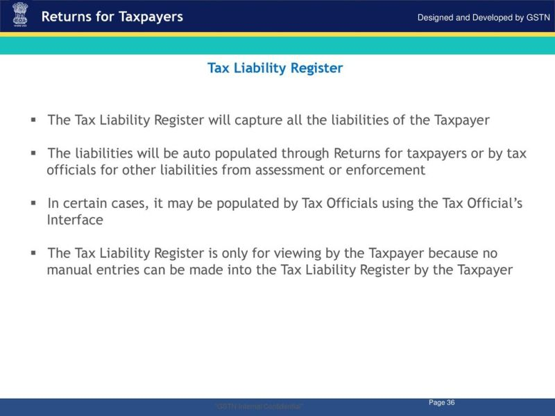 Image result for tax liability register