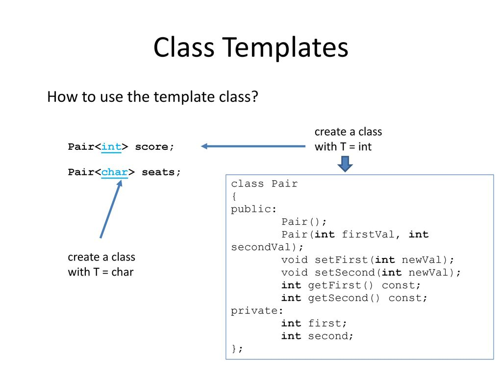 C Template Ppt Download