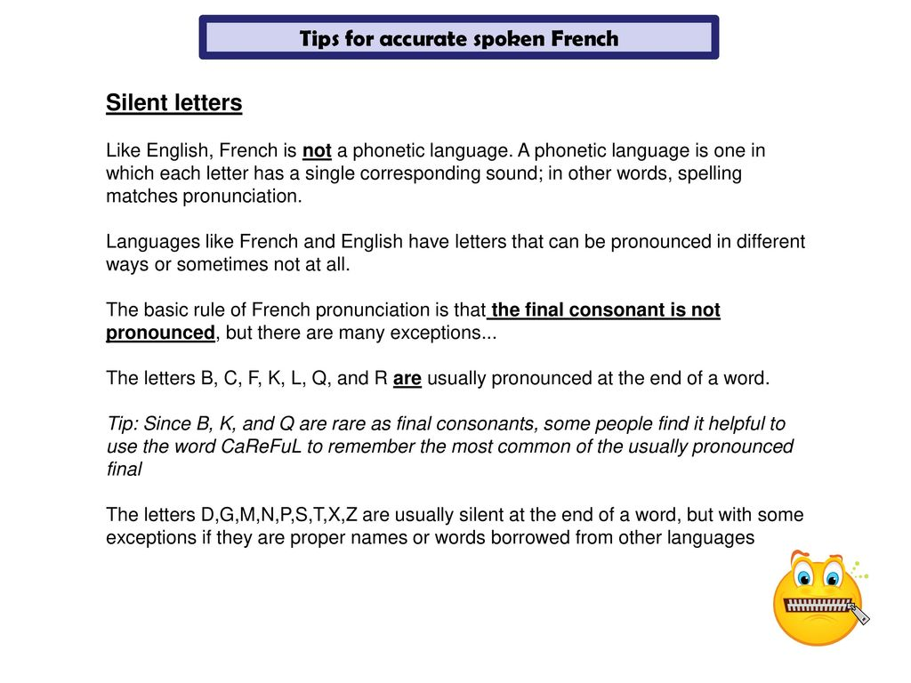 Silent Letters In French Words Inviletter