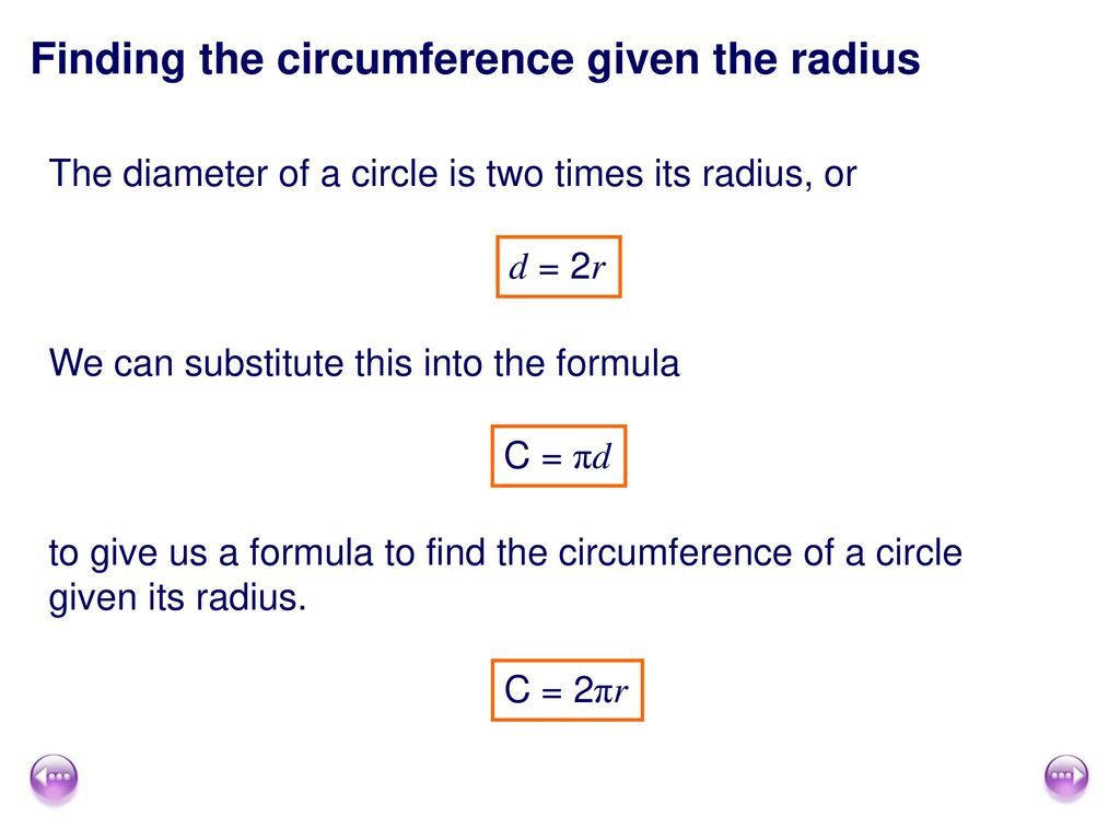Solve Problems Involving The Circumference And Area Of