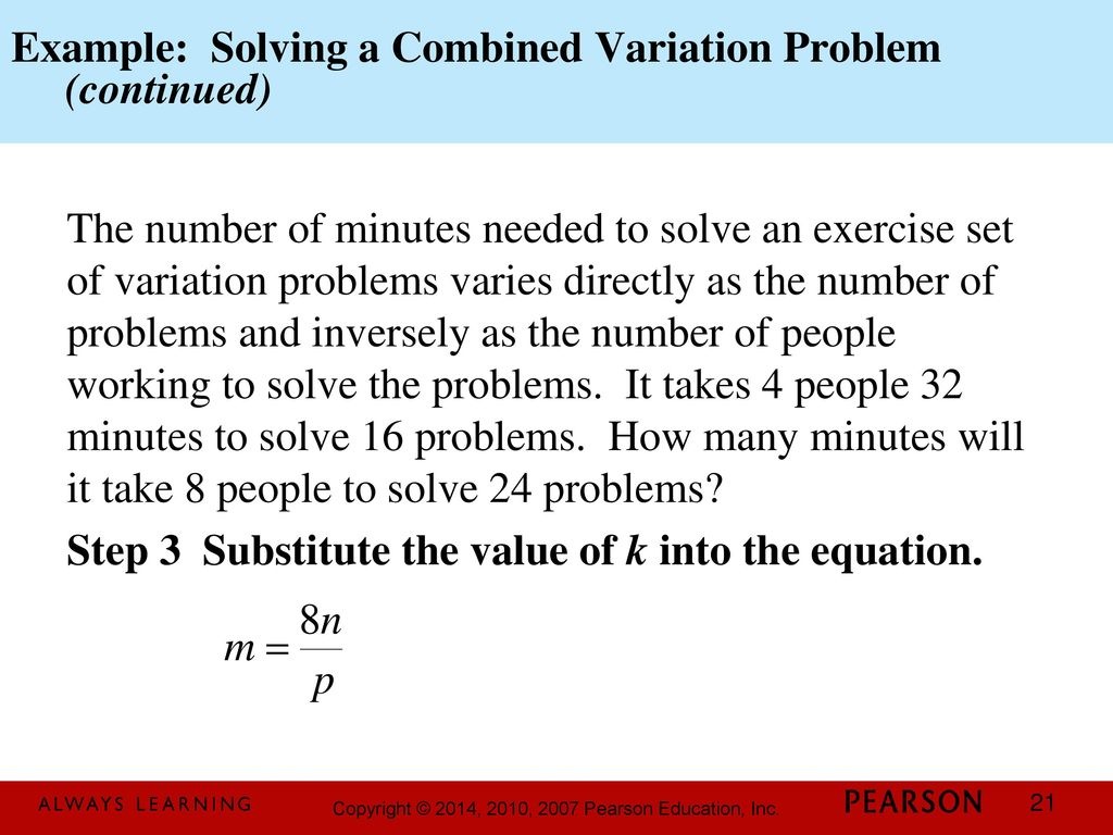 Combined Variation Equation