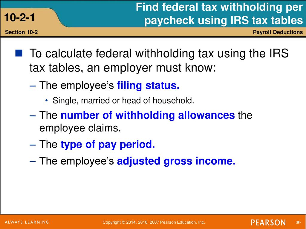 Federal Withholding Tax Tables Review Home Decor