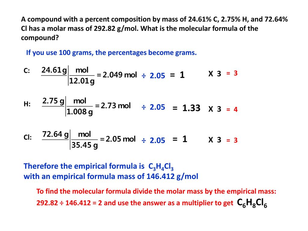 A Chemistry Student Determined The Empirical Formula For