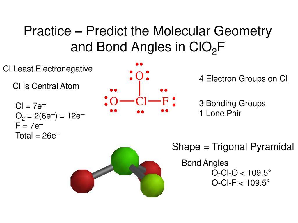 Molecular Geometry Predicted By Vsepr